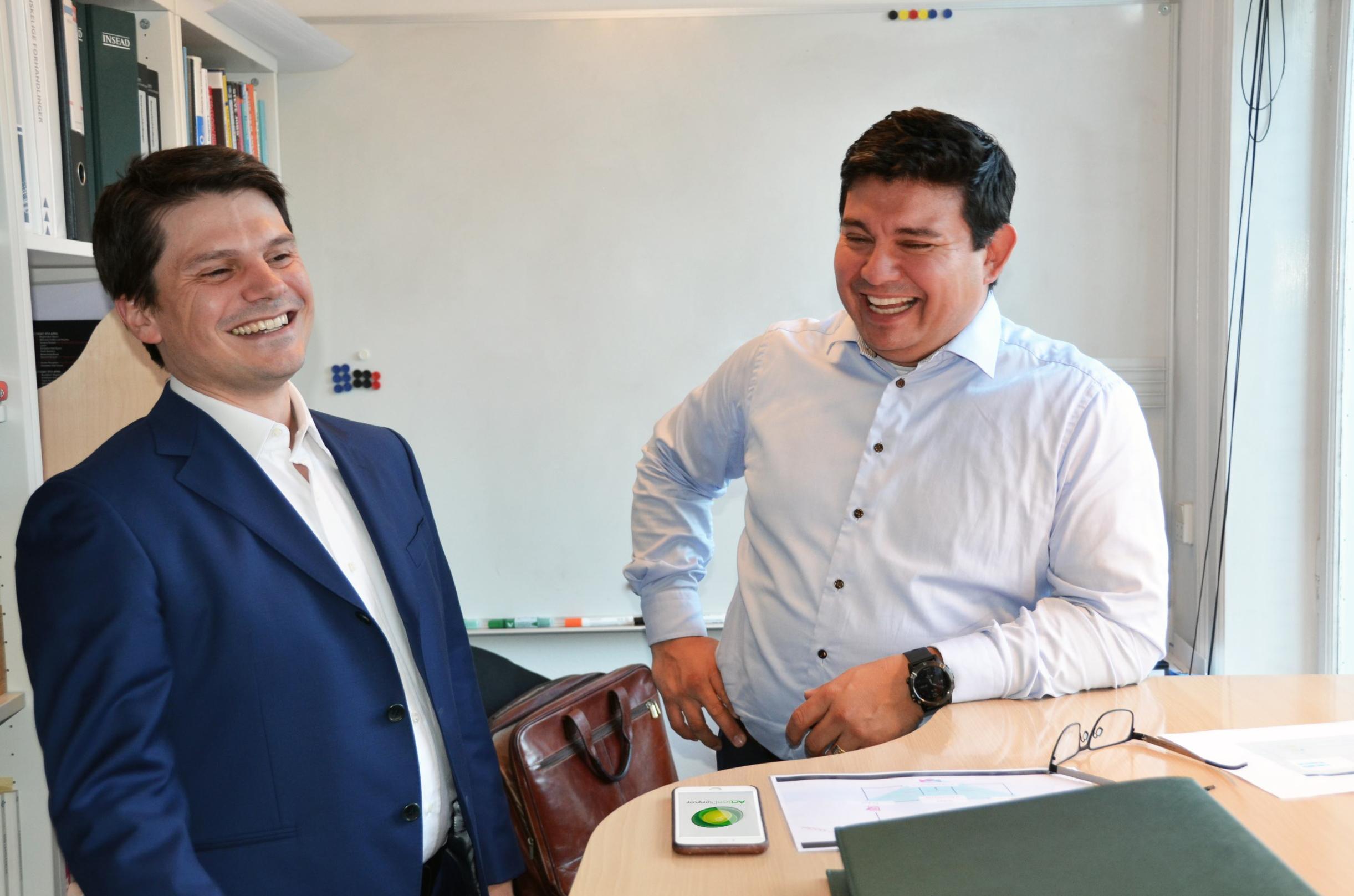 Andrea Orlando and Victor Veloso at the AP HQ (INSEAD alumni)